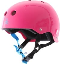 Triple Eight Brainsaver Multi-Impact Sweatsaver Skate Helmet - neon fuschia glossy