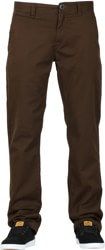 Volcom Frickin Modern Stretch Chino Pants - dark chocolate