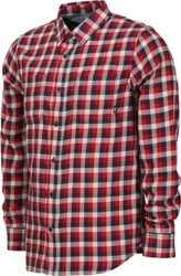 Vans Alameda II Flannel Shirt - dress blues/chili pepper