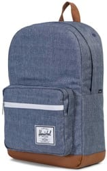 Herschel Supply Pop Quiz Backpack - dark chambray crosshatch