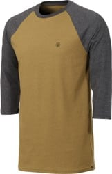 Volcom Solid Heather Raglan 3/4 Sleeve T-Shirt - light army
