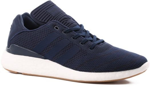 Adidas Busenitz Pure Boost Prime Knit Shoes - collegiate navy/footwear white/gum - view large