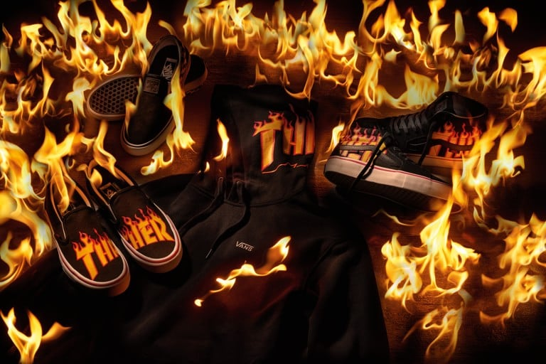44a3e51d04a Feel the burn with the Vans x Thrasher collection