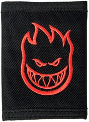 Spitfire Bighead Embroidered Tri-Fold Velcro Wallet - black/red