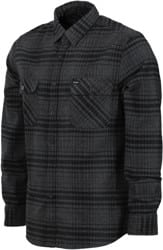 Brixton Bowery Flannel - black/heather charcoal