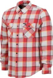 Brixton Bowery Flannel - red/grey