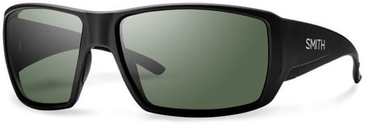 Smith Guide's Choice Polarized Sunglasses - matte black/chromapop polarized gray green lens - view large