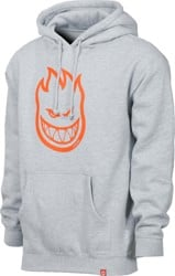 Spitfire Bighead Hoodie - grey heather/orange print