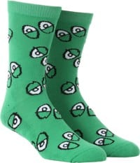 Krooked Eyes Sock - kelly green