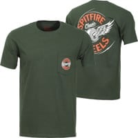 Spitfire Flying Classic T-Shirt - forrest green