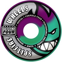 Spitfire Formula Four Radial Skateboard Wheels - purple/mint swirl (101d)