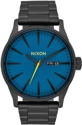 Nixon Sentry SS Watch - all black/seaport blue
