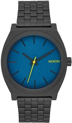 Nixon Time Teller Watch - all black/seaport blue - view large