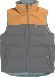 Patagonia Bivy Down Vest - forge grey w/ bear brown