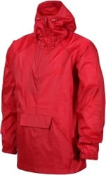 The Killing Floor Packaway Pullover Windbreaker - cherry red