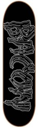 Bacon Skateboards Logo 8.5 Skateboard Deck - black & white