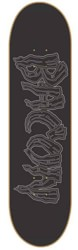 Bacon Skateboards Logo 9.0 Skateboard Deck - grey