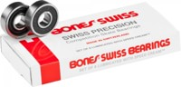 Bones Bearings Swiss Skateboard Bearings - black