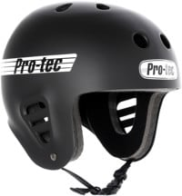 ProTec Full Cut Skate Helmet - rubber black/white logo
