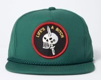 Crawling Death Life's A Bitch Snapback Hat - green