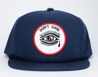 Crawling Death Don't Care Snapback Hat - navy