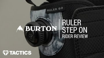 Burton Ruler Step On 2018 Snowboard Boot Rider Review