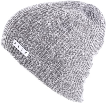 Neff Daily Heather Beanie - grey heather/white - view large