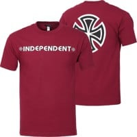 Independent Bar/Cross T-Shirt - burgundy