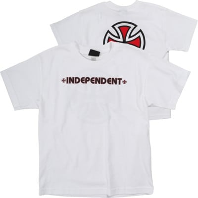 Independent Kids Bar/Cross T-Shirt - white - view large