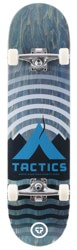 Tactics Base Camp 7.5 Complete Skateboard - blue deck / raw trucks / white wheels