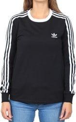 Adidas Women's 3-Stripes L/S T-Shirt - black
