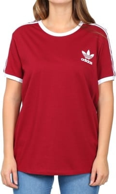 Adidas Women's 3-Stripes T-Shirt - collegiate burgundy - view large