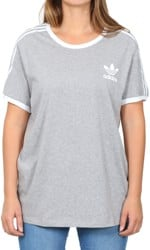Adidas Women's 3-Stripes T-Shirt - medium grey heather