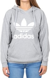 Adidas Women's Trefoil Hoodie - medium grey heather