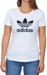 Adidas Women's Trefoil T-Shirt - white/black