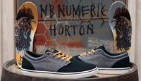New Balance 345 Ben Horton Skate Shoes - black/grey/orange