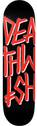 Deathwish Deathstack 8.25 Skateboard Deck - black/red