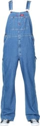 Dickies Indigo Bib Overall Jeans - stone washed