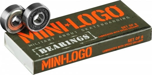 Mini Logo Precision Skateboard Bearings - black - view large
