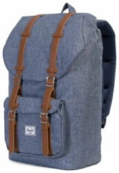Herschel Supply Little America Backpack - dark chambray crosshatch/tan