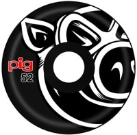 Pig Head Conical Skateboard Wheels - black (101a)