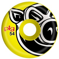 Pig Head Conical Skateboard Wheels - yellow (101a)