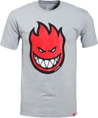 Spitfire Bighead Fill T-Shirt - athletic heather/red
