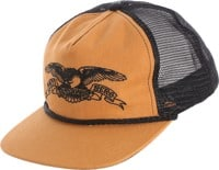 Anti-Hero Basic Eagle Embroidered Trucker Hat - tan/black