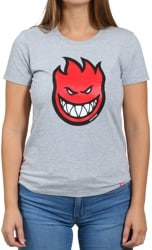 Spitfire Women's Bighead Fill T-Shirt - athletic heather/red