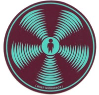 Alien Workshop Sonic Sticker - teal/burgundy