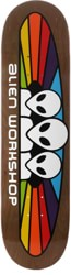 Alien Workshop Spectrum 7.875 Skateboard Deck - brown / white text