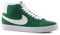 Nike SB Blazer Zoom Mid Skate Shoes - pine green/white