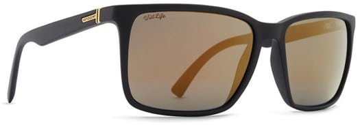 Von Zipper Lesmore Polarized Sunglasses - black satin/wild gold flash polar plus lens - view large