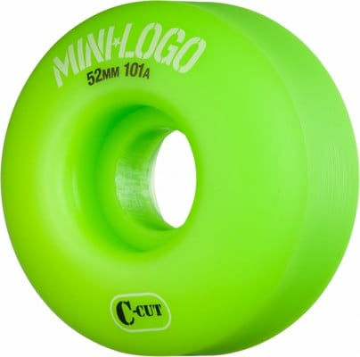 Mini Logo C-Cut Skateboard Wheels - green (101a) - view large